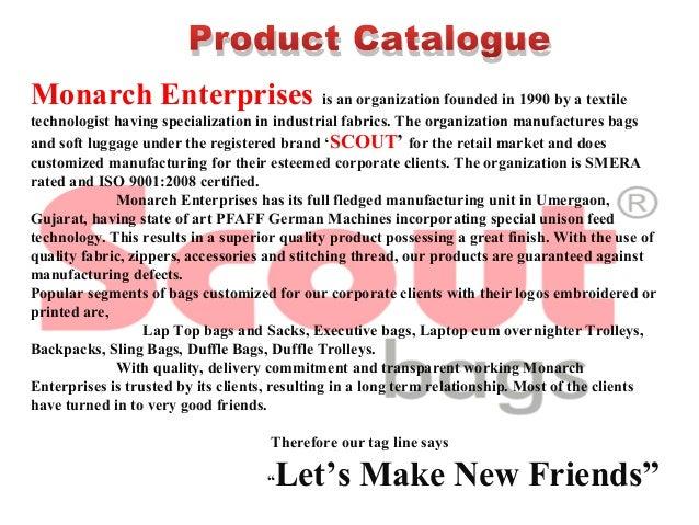 MonarchEnterprisesisanorganizationfoundedin1990byatextile technologisthavingspecializationinindustrialfabr...