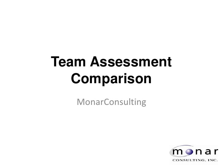 Team Assessment Comparison<br />MonarConsulting<br />