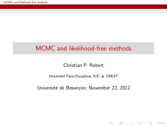MCMC and likelihood-free methods                       MCMC and likelihood-free methods                                   ...