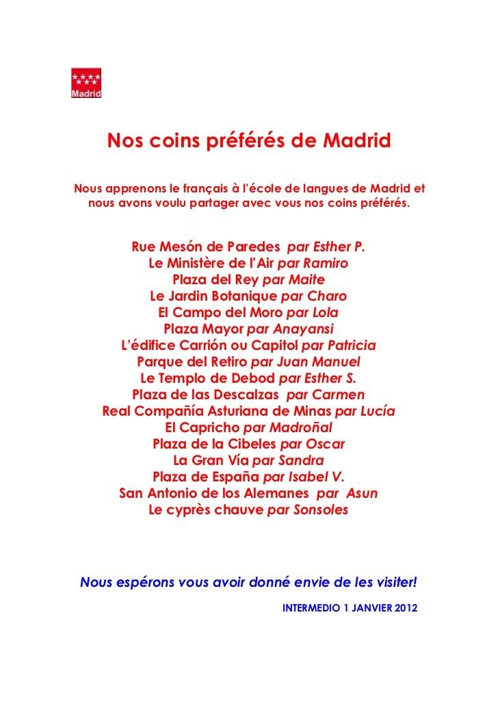 Mon coin préféré de Madrid