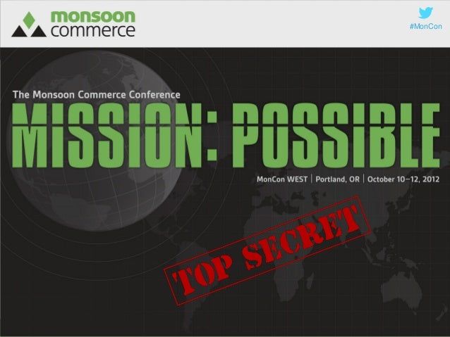 #MonConMonCon WEST | October 10–12, 2012