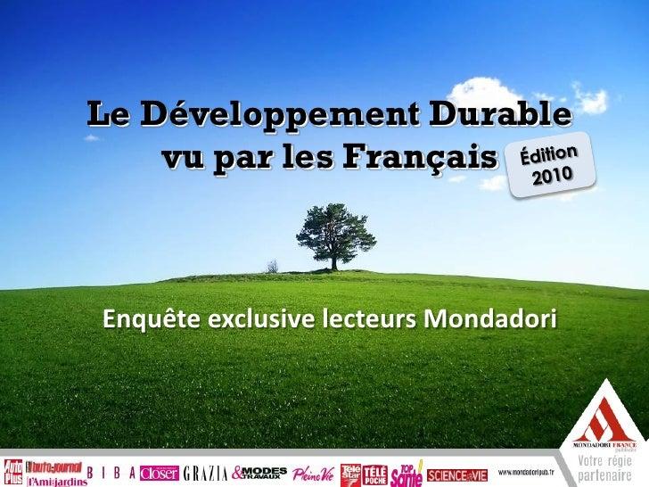 Mondadori extraits-baromètre-lecteurs-developpement-durable-2010