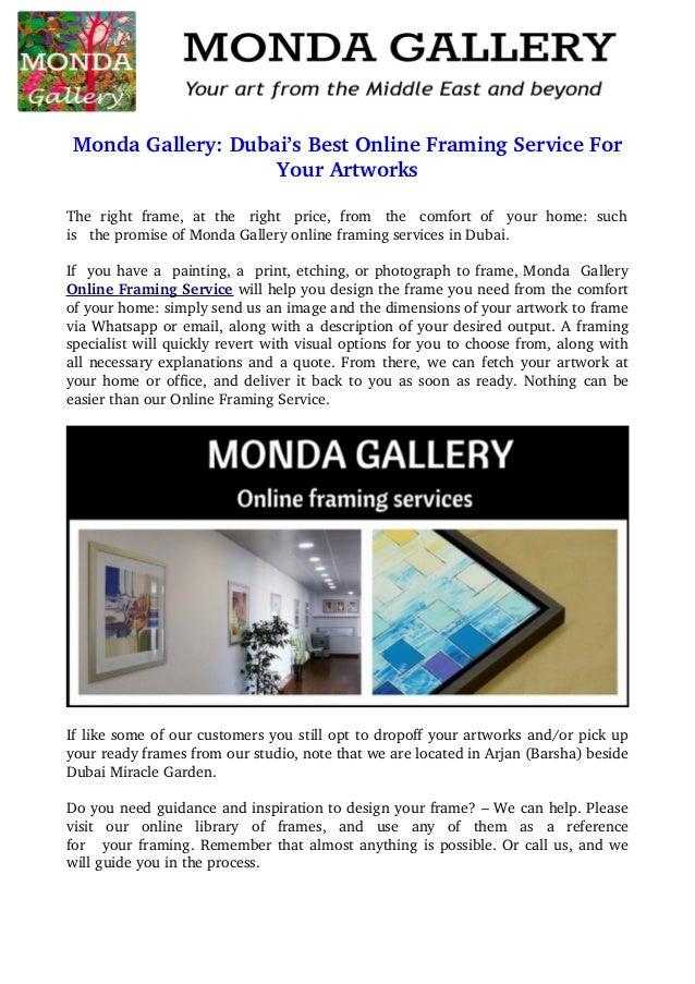 Monda gallery: dubai\'s best online framing service for your artworks
