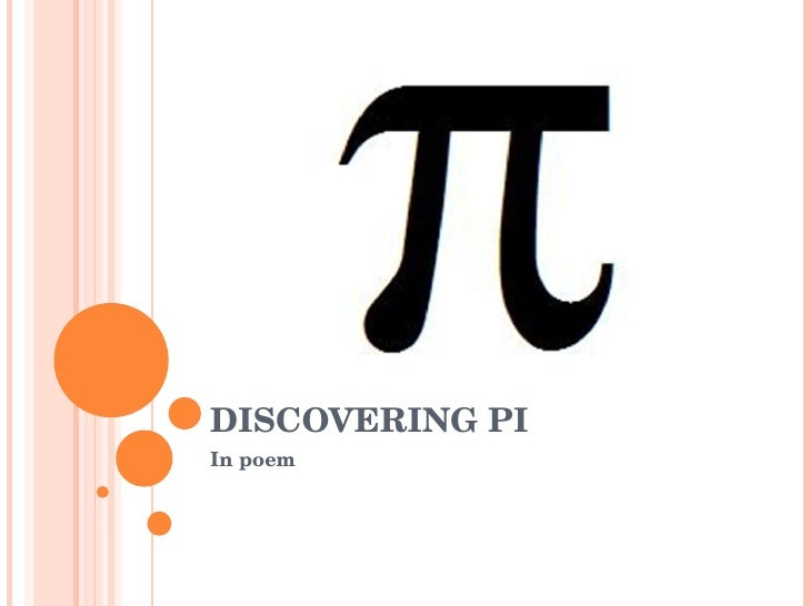 DISCOVERING PI In poem