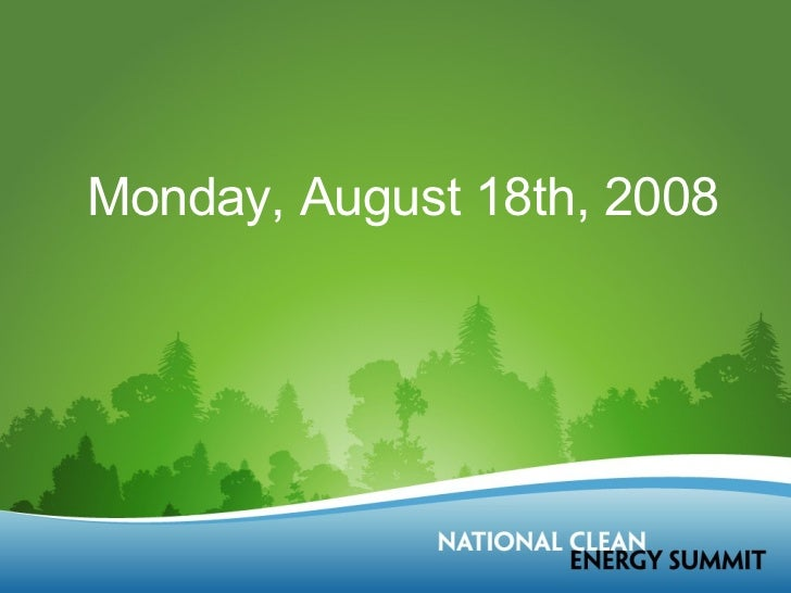 Monday, August 18th, 2008