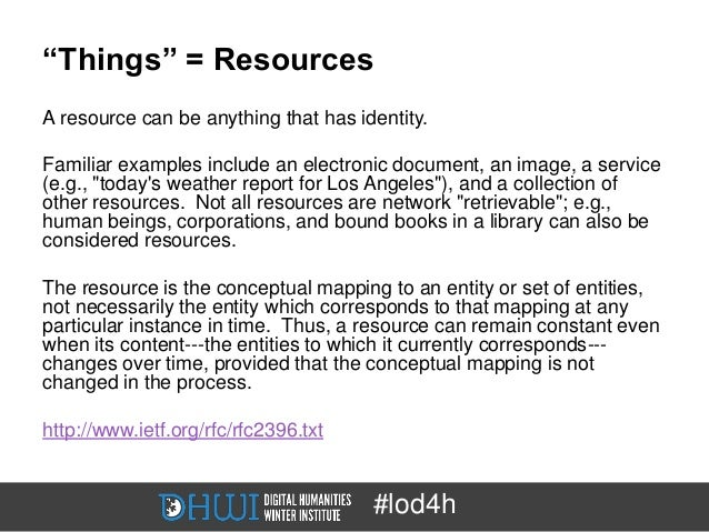 """""""Things"""" = ResourcesA resource can be anything that has identity.Familiar examples include an electronic document, an imag..."""