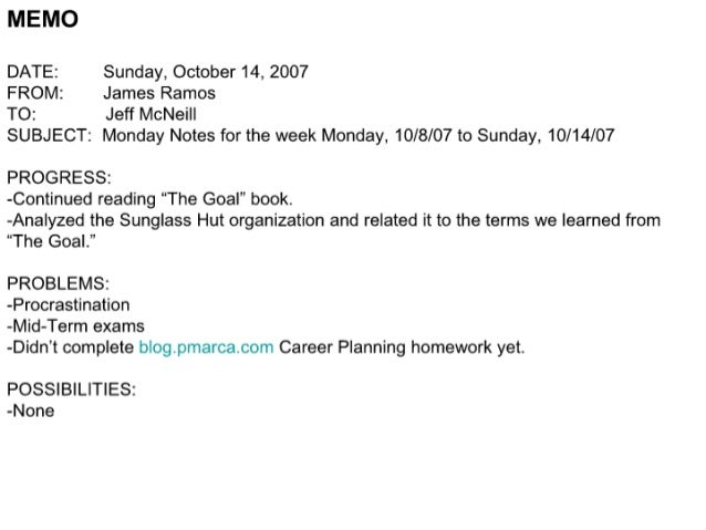 MEMO  DATE:  Sunday,  October 14, 2007  FROM:  James Ramos  TO:  Jeff McNei| |  SUBJECT:  Monday Notes for the week Monday...