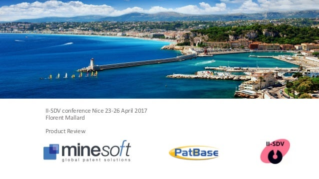 II-SDV conference Nice 23-26 April 2017 Florent Mallard Product Review