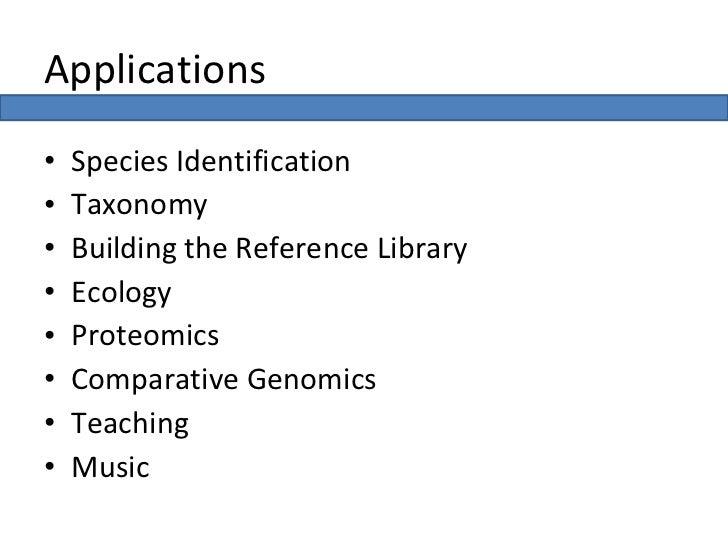 Dr Justin Schonfeld - Bioinformatics Applications Slide 3