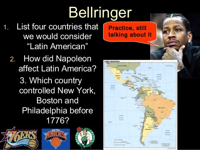 "BellringerBellringer 1.1. List four countries thatList four countries that we would considerwe would consider ""Latin Ameri..."