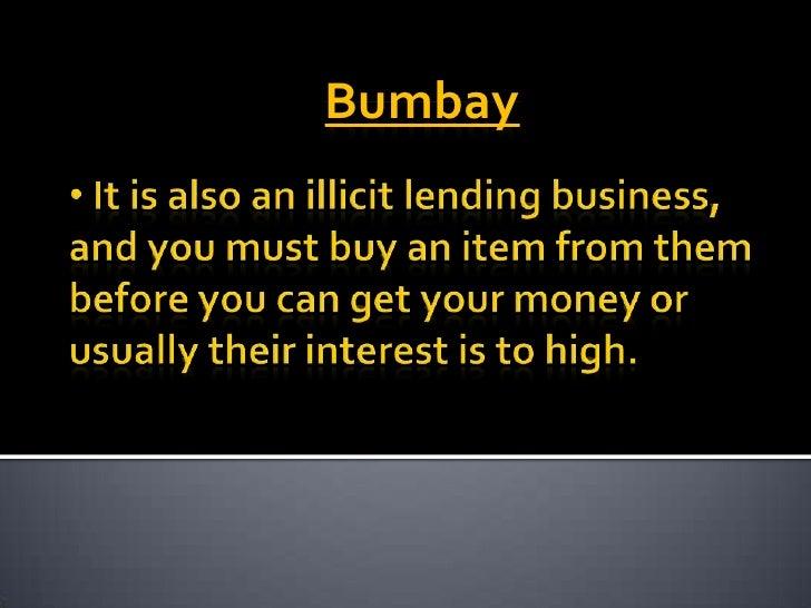 PAG-ASA LENDING<br /><ul><li> The interest rate is 12% to 16% and it has collateral.</li></li></ul><li>BANK<br /><ul><li> ...