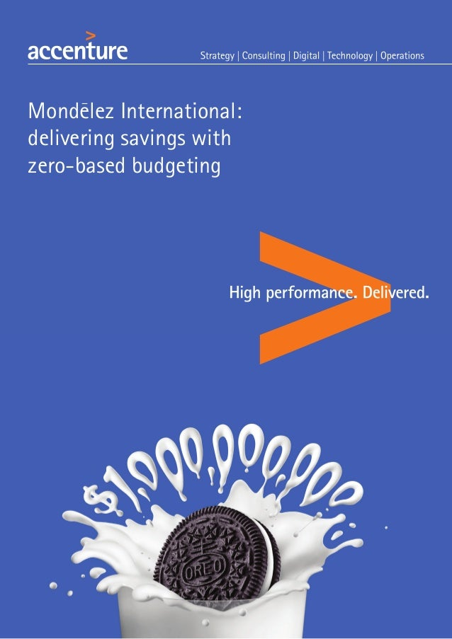 Mondelez International: delivering savings with zero-based budgeting