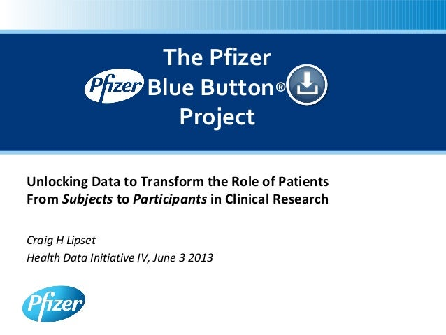 Unlocking Data to Transform the Role of PatientsFrom Subjects to Participants in Clinical ResearchCraig H LipsetHealth Dat...