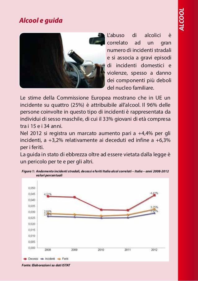 ALCOOL L'abuso di alcolici è correlato ad un gran numero di incidenti stradali e si associa a gravi episodi di incidenti d...