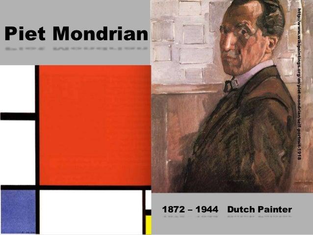 http://www.wikipaintings.org/en/piet-mondrian/self-portrait-1918                                                          ...