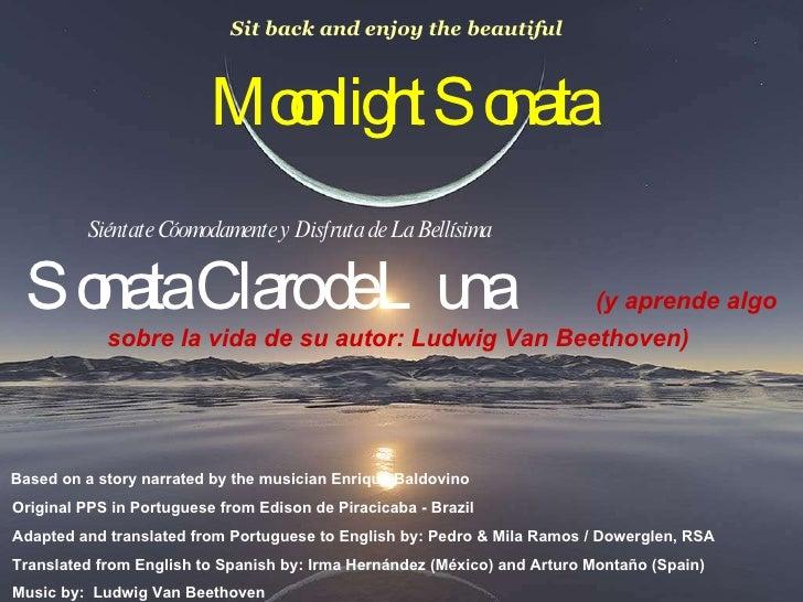 Moonlight Sonata Siéntate Cóomodamente y Disfruta de La Bellísima  Sonata Claro de Luna  (y aprende algo sobre la vida de ...