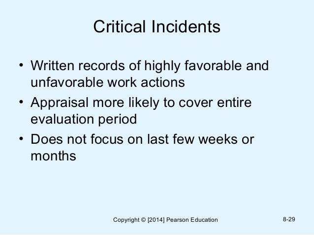 Written essay appraisal method