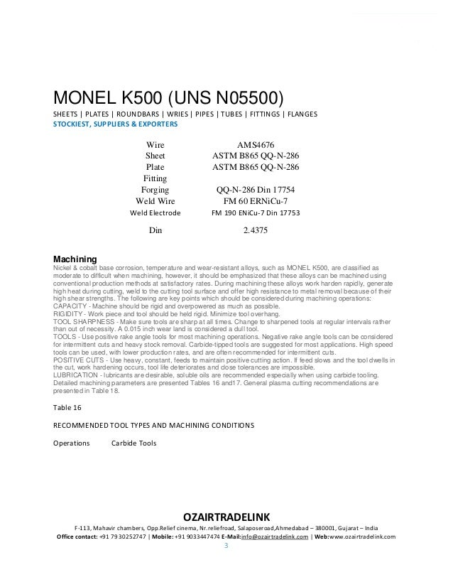 Monel Alloy K500 UNS N0K500 Sheet & Plate Stockiest and Suppliers