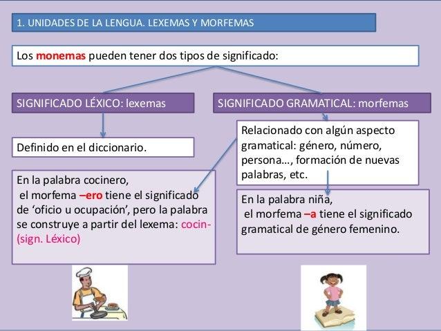 Resultado de imagen de esquema lexemas y morfemas