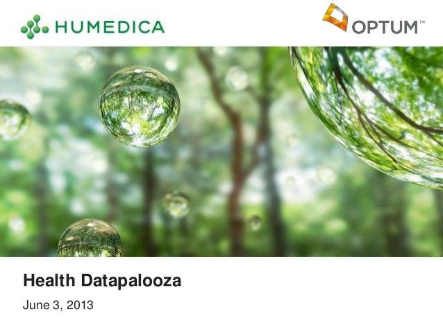June 3, 2013Health Datapalooza