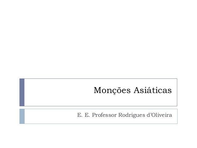 Monções Asiáticas E. E. Professor Rodrigues d'Oliveira