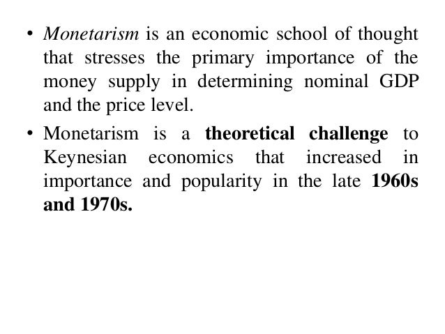 what are the characteristics of monetarism Diffusion and the five characteristics of innovation adoption posted on | october 23, 2012 | no comments i recently supervised a master of science thesis at new.