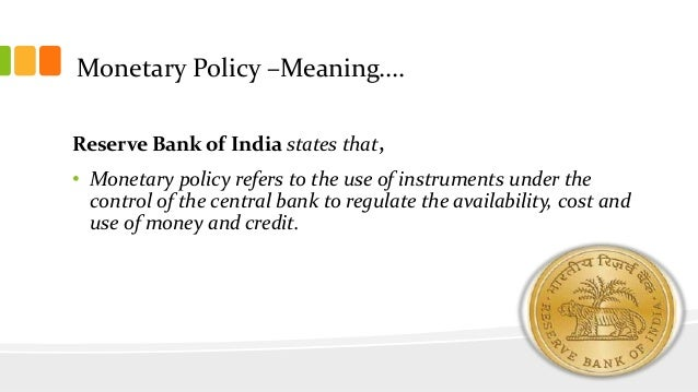 monetary policy tools in india Information on the ecb's operational framework including the monetary policy instruments and procedures.