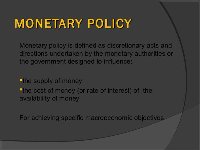 fiscal and monetary policy the response Coordination of fiscal with monetary and financial stability policies can better   monetary policy reaction can play a key role in terms of the effectiveness of.