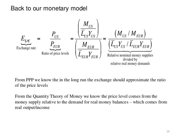 monetary model of exchange rate Sticky-price monetary model of exchange rate: a cointegration analysis a tarkan çavuşoğlu middle east technical university and mersin university.