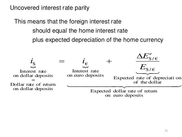 a reconsideration of the uncovered interest parity relationship