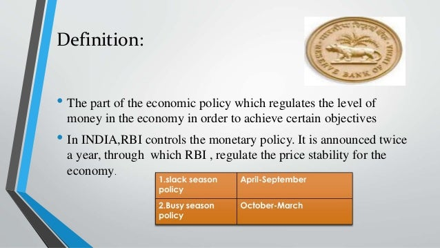 rbi monetary policy The monetary policy committee of india is a committee of the reserve bank of india that is responsible for fixing the benchmark interest rate in indiathe meetings of the monetary policy committee are held at least 4 times a year and it publishes its decisions after each such meeting.