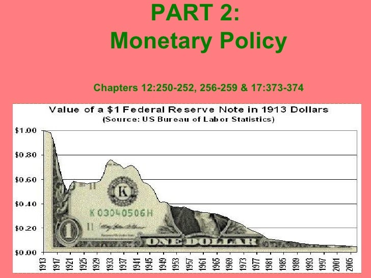 PART 2:  Monetary Policy Chapters 12:250-252, 256-259 & 17:373-374