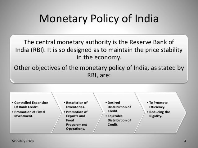 monetary policy tools in india To carry this out, bank indonesia holds powers to conduct monetary policy through the establishment of monetary targets (such as money supply or interest rates) with the primary goal of keeping inflation at the government-prescribed level.