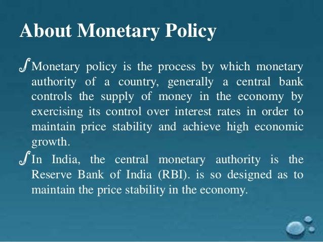 Monetary policy Slide 3