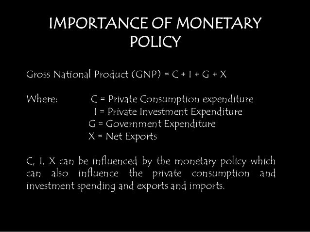 the importance of the monetary policy Simply refl ects is the importance of containing infl ation and the fact the role of monetary policy monetary bulletin 2007•3 78.