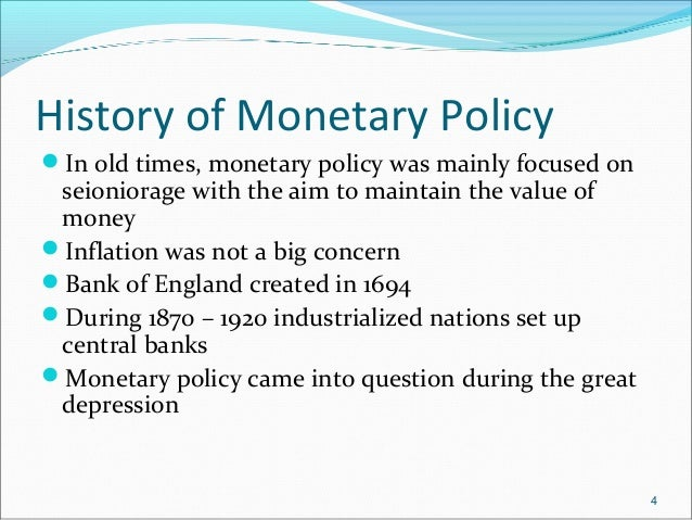 Monetary policy great depression
