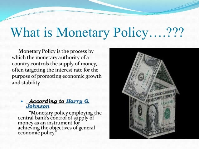 what is monetary policy Eight heresies of monetary policy this is a talk i gave for hoover, which blog  readers might enjoy yes, it puts together many pieces said.