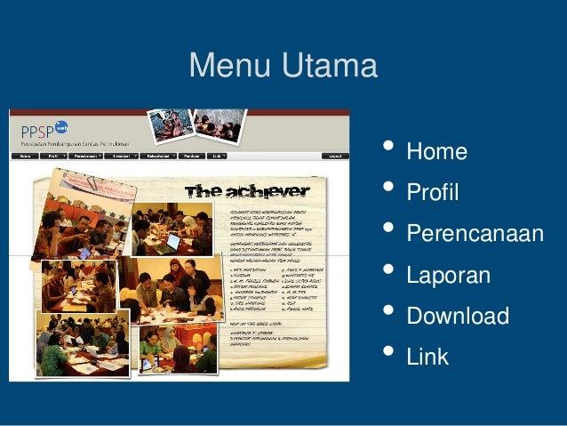 Menu Utama • Home • Profil • Perencanaan • Laporan • Download • Link