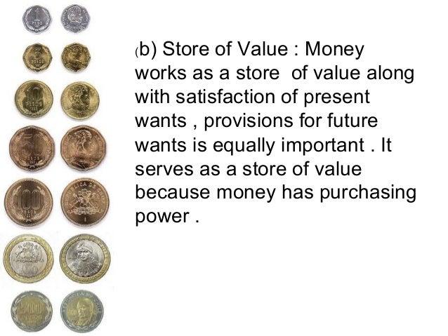 transfer of value function of money
