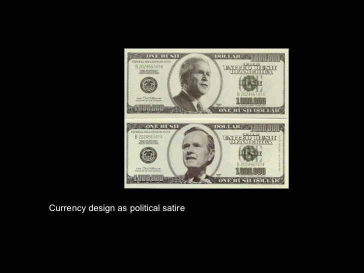Currency design as political satire