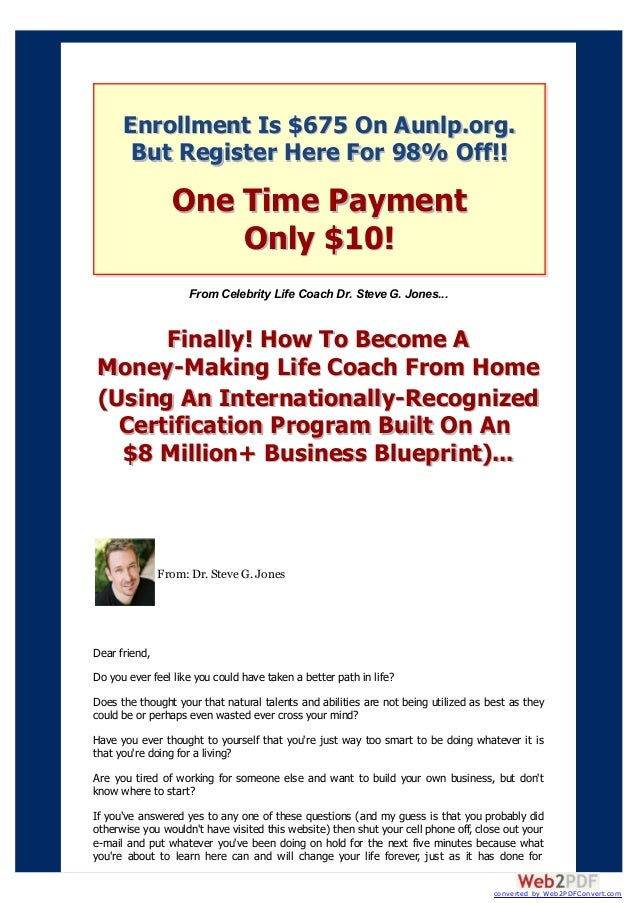 money making life coach from home | life coaching certification
