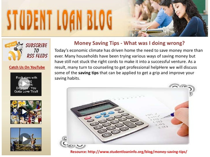 Money Saving Tips - What was I doing wrong?<br />Today's economic climate has driven home the need to save money more than...