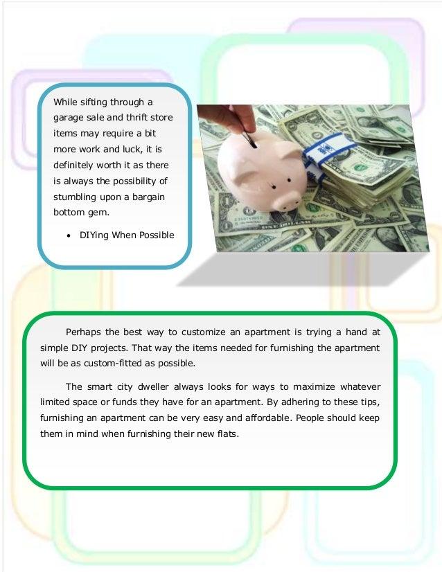 Money Saving Tips For Furnishing Apartments