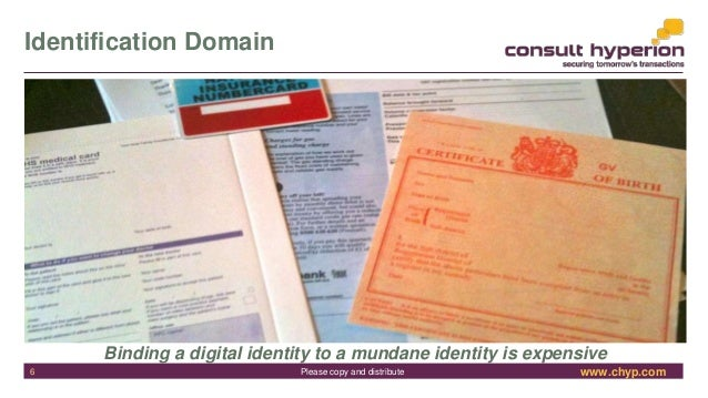 www.chyp.comPlease copy and distribute Identification Domain Binding a digital identity to a mundane identity is expensive...