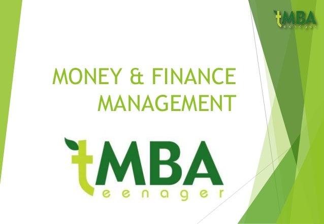 MONEY & FINANCE MANAGEMENT