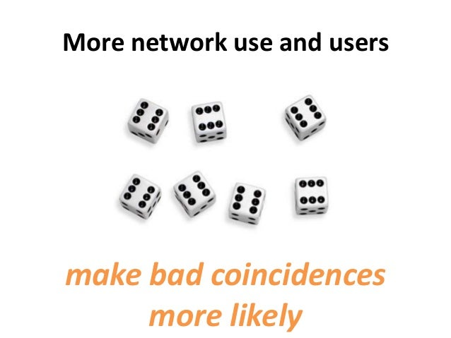More network use and usersmake bad coincidencesmore likely