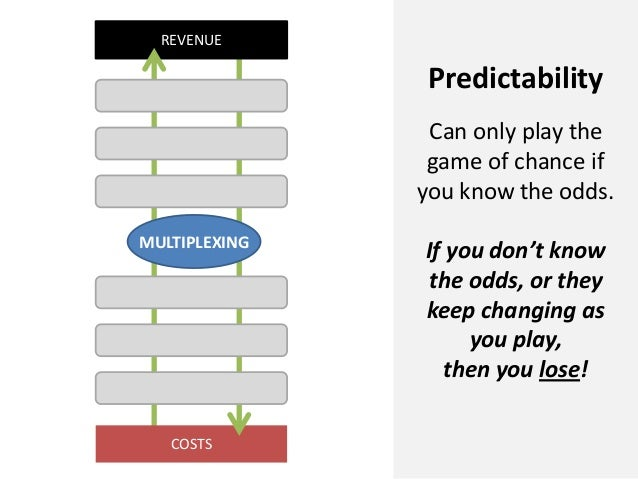 COSTSREVENUEMULTIPLEXINGPredictabilityCan only play thegame of chance ifyou know the odds.If you don't knowthe odds, or th...