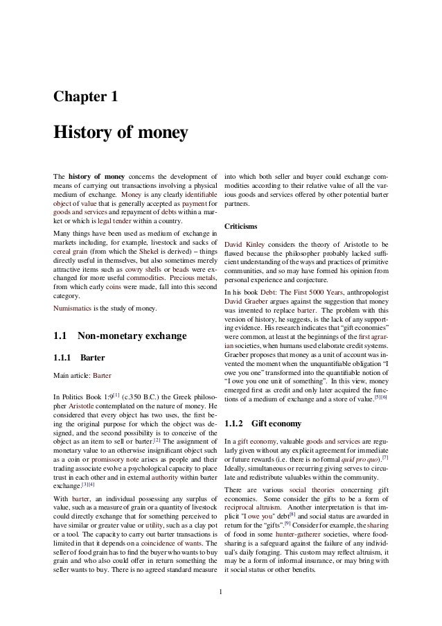 the history of money The skills learned in acquiring a math degree will always be in demand in the  workplace, sometimes in unexpected professions doctors, lawyers, teachers.