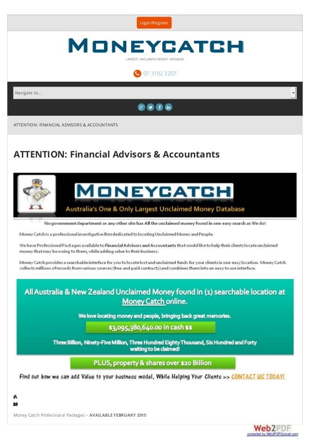ATTENTION: FINANCIAL ADVISORS & ACCOUNTANTS ATTENTION: Financial Advisors & Accountants Areyoulookingfo Howabouthelpingyou...