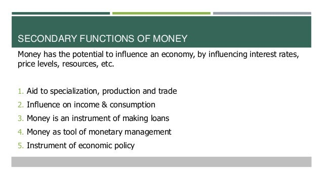 3 functions of money